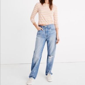 Madewell NWT The Dad Jean Bleached Edition 30